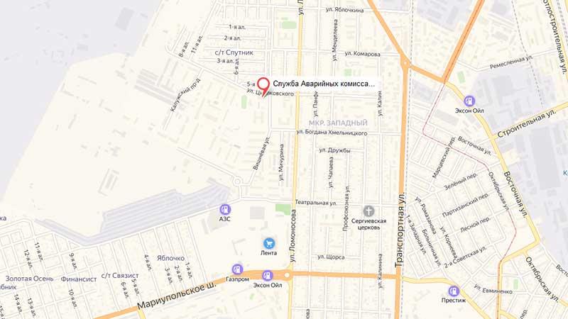 Карта проезда в офис